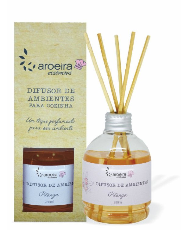 Difusor Perfumado de Ambientes Gourmet Aroeira Essencias 280ml - Varetas - Pitanga