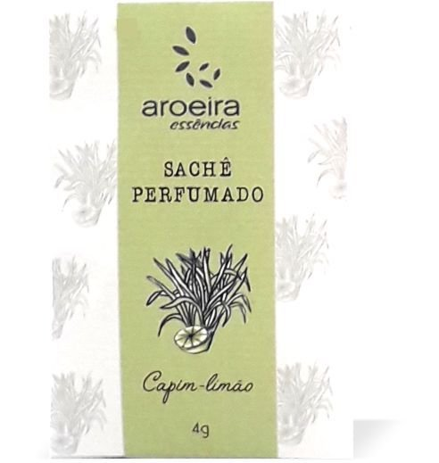 Sachê Perfumado Aroeira Essências 4g - Capim-limão