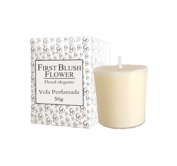 Vela Aromática de Ambientes Greenone 56g Branca - First Blush Flower