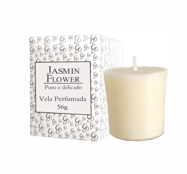 Vela Aromática de Ambientes Greenone 56g Branca - Jasmin Flower