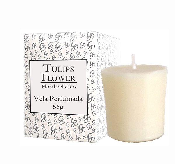 Vela Aromática de Ambientes Greenone 56g Branca - Tulips Flower
