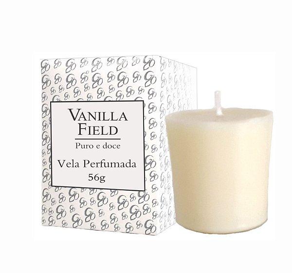 Vela Aromática de Ambientes Greenone 56g Branca - Vanilla Field