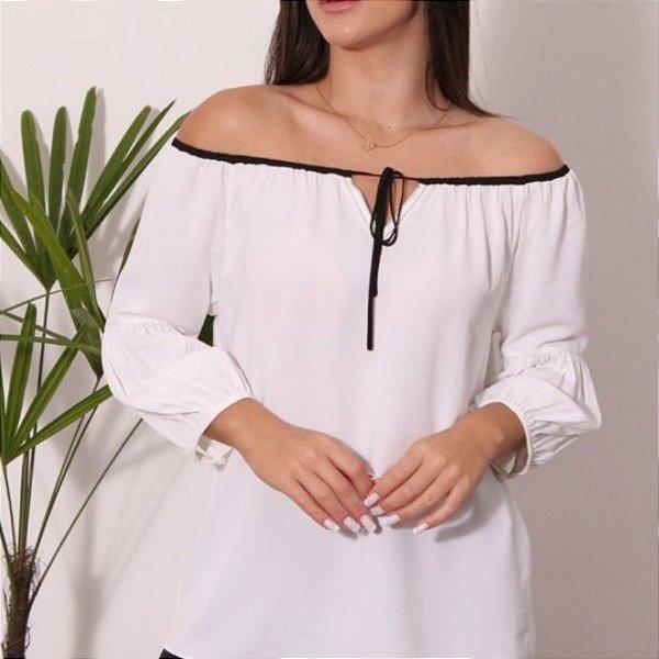 Blusa ombro a ombro off white