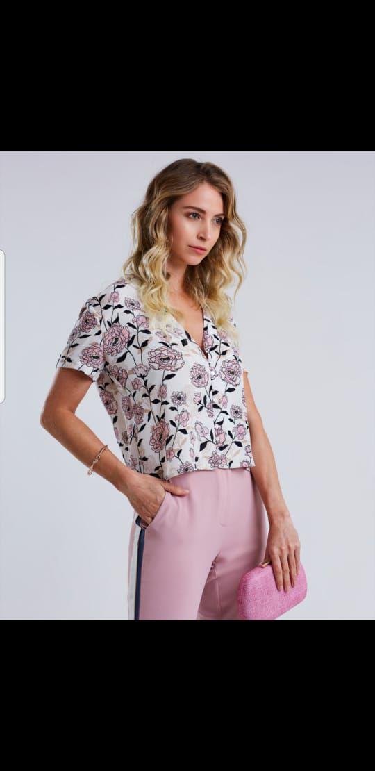 Blusa viscose rosas K VR