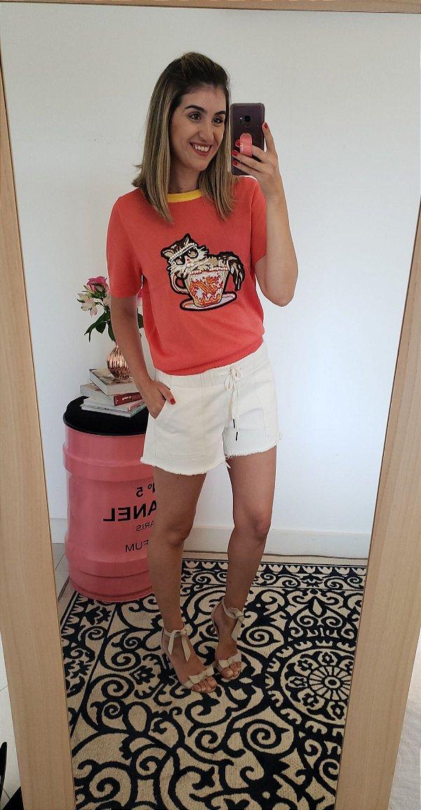 Tshirt tricot modal gatinho laranja b vr