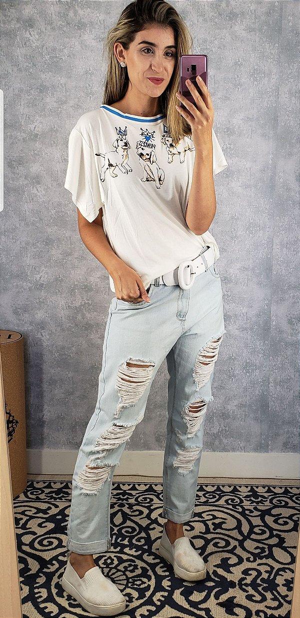 calca jeans boy destroyed
