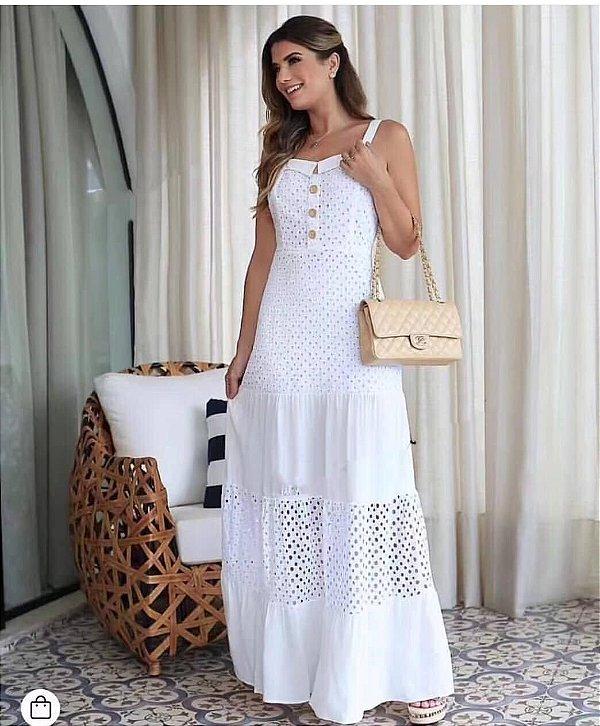 Vestido Branco Regata Laise
