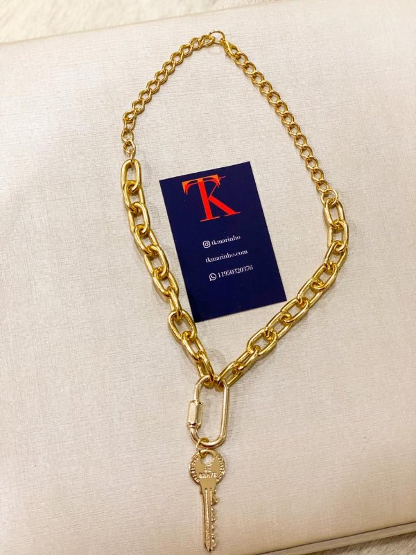 Cordão metal chave