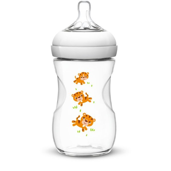 Mamadeira Pétala Decorada - Tigre - 260ml - Philips Avent