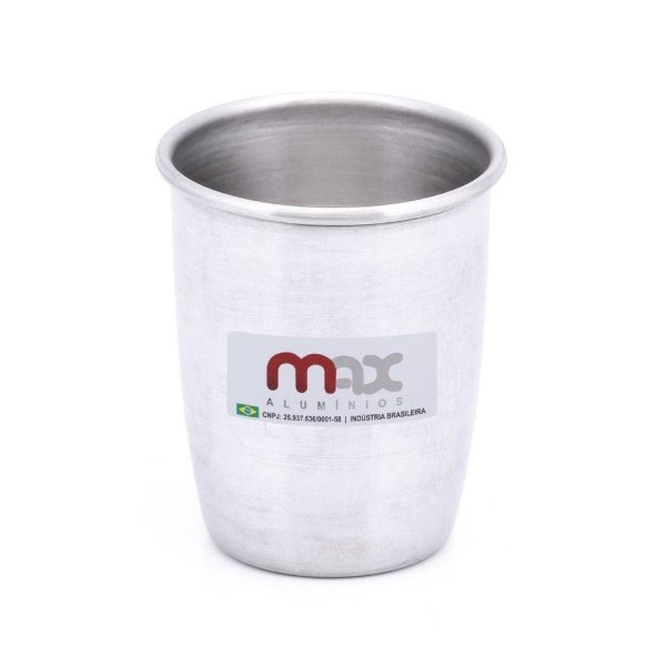 Copo de Alumínio Polido 300ML Max Alumínio