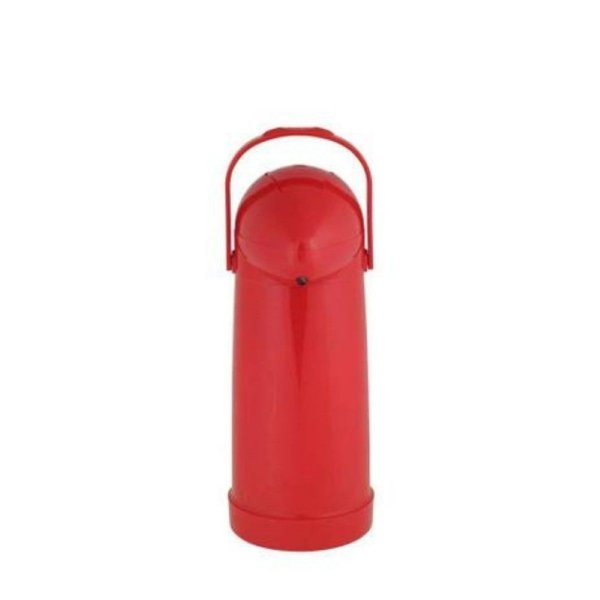 Garrafa Térmica Com Pressão Nobile 1Litro Vermelha MOR