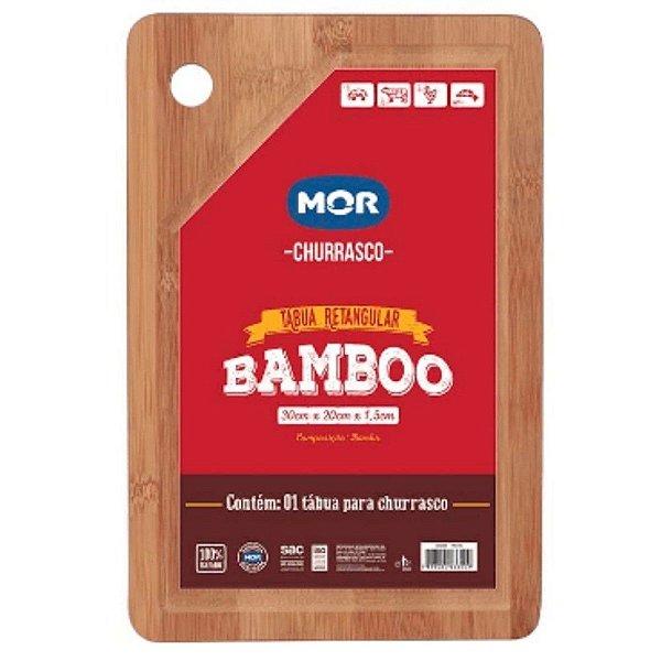 Tábua Retangular Bamboo 30x20cm MOR