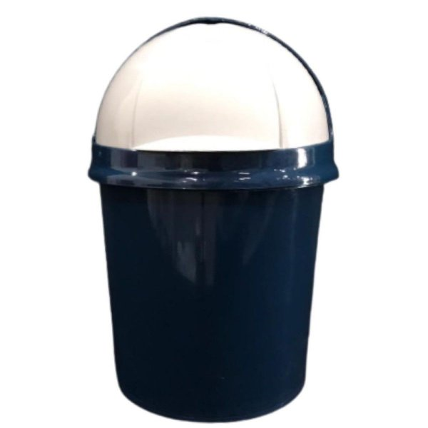 Lixeira Pia Retrátil 4.1 Litros Azul Plasvale