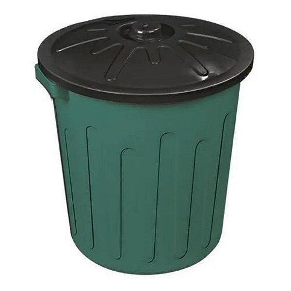 Lixeira Plástica Com Tampa 30 Litros Verde ARQPLAST