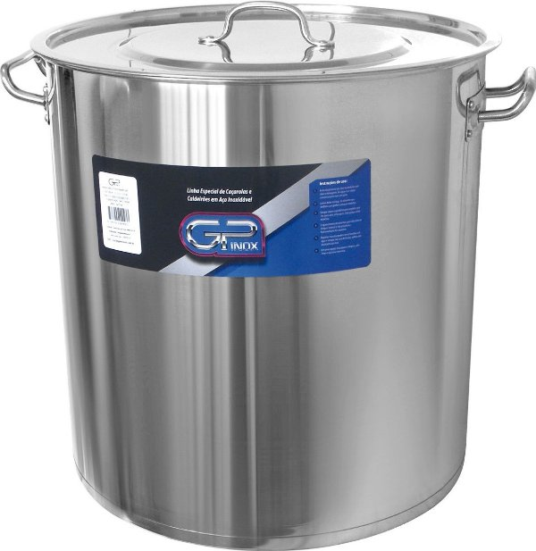 Caldeirão Nº 40 em Inox 47,8 litros Gp Inox