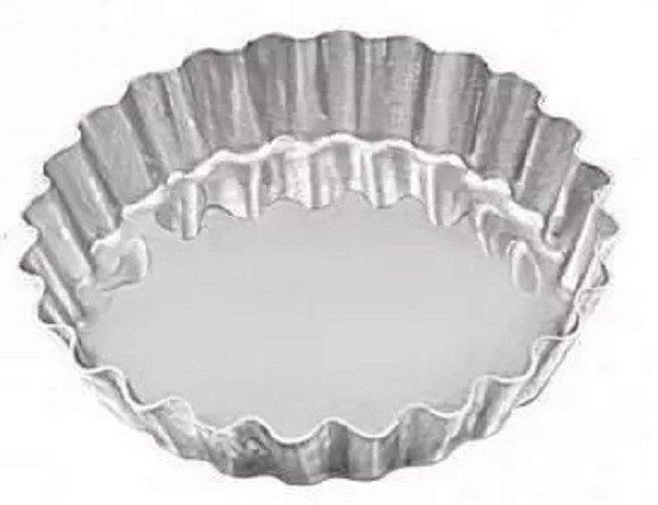 Forma Crespa 9 x 1,9 cm em Alumínio para Torta pacote com 12 Caparroz