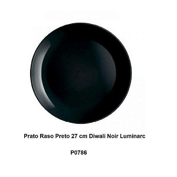 Prato Raso Preto 27 cm Diwali Noir Luminarc
