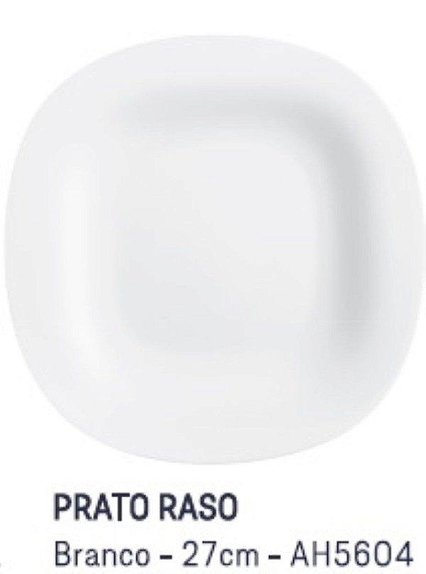 Prato Raso Branco 27 cm Carine Luminarc