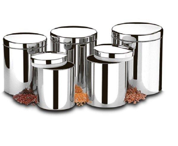 Conjunto de Potes para Mantimentos com Tampa Suprema com 5 peças Brinox