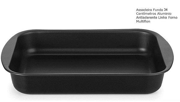 Assadeira Antiaderente Funda 34 cm Multiflon