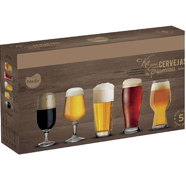 Kit Copos Cerveja Especiais 5 Peças – Nadir Figueiredo