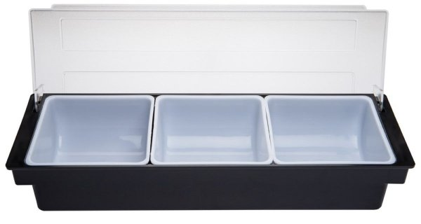 Porta Condimentos 49,5 x 15,5 x 8,7 cm com 3 Divisórias GP INOX