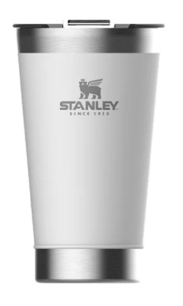 Copo térmico com tampa para cerveja Branco 473 ml STANLEY