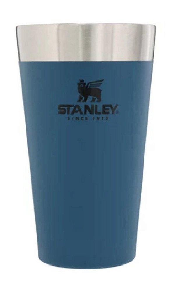 Copo térmico sem tampa para cerveja 473ml Azul STANLEY