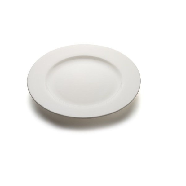 Prato sobremesa com aba 19cm Porcelana GP INOX