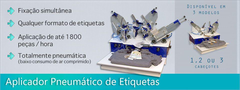 JET PIN TAG - APLICADOR PNEUMATICO DE TAG PINOS PLASTICOS - DE 1 / 2 / 3 CABEÇOTES