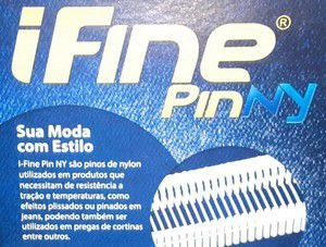 I FINE PIN NYLON 5 MM - CONBAT - CAIXA BOX COM 10 MILHEIROS