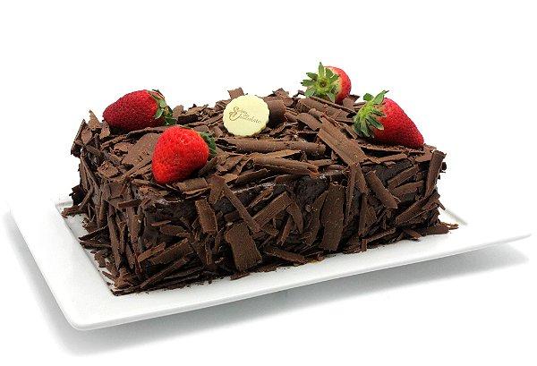 Bolo Mousse de Chocolate com Morango
