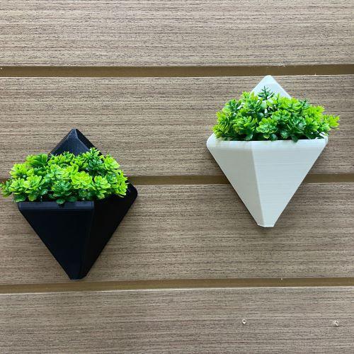 Vaso de parede geométrico