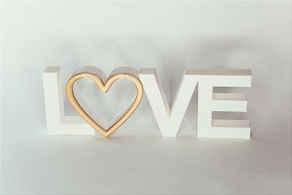 Palavras Love deitado impressão 3D