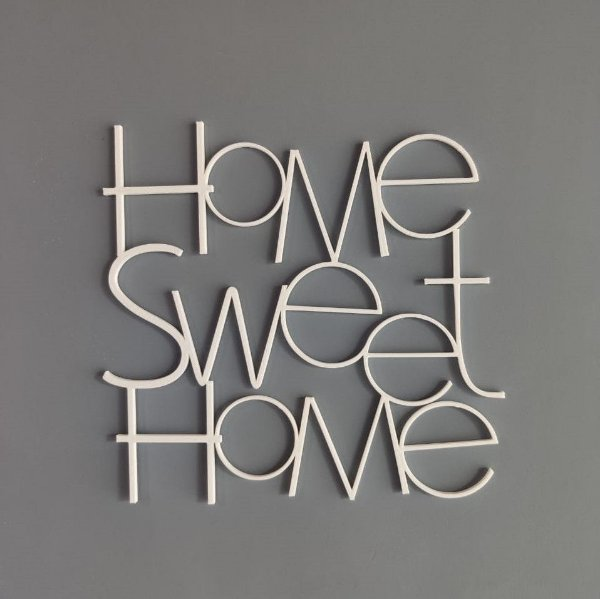 Palavra decorativa Home Sweet Home