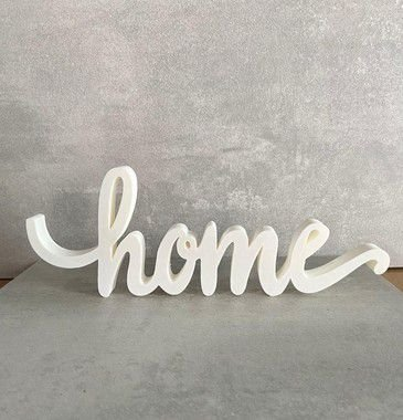 Palavra Home impressão 3D