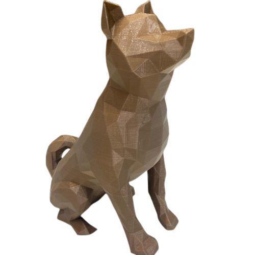 Dog Akita Low poly