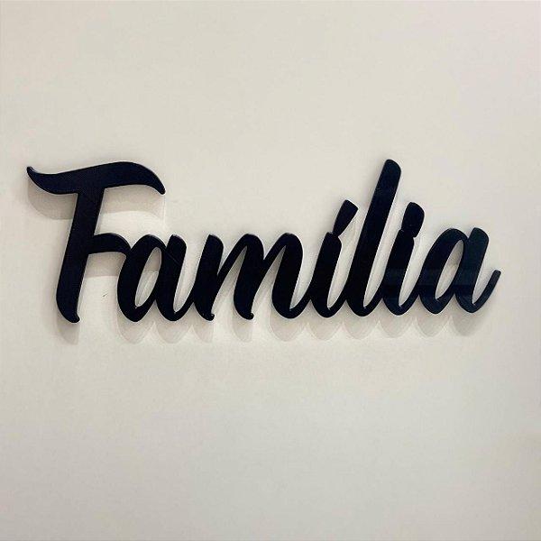 Decoração de parede em 3D Família