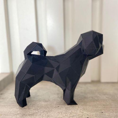Dog Lhasa-apso Low poly