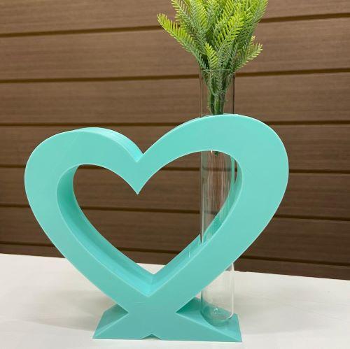 Vaso Coração com vidro