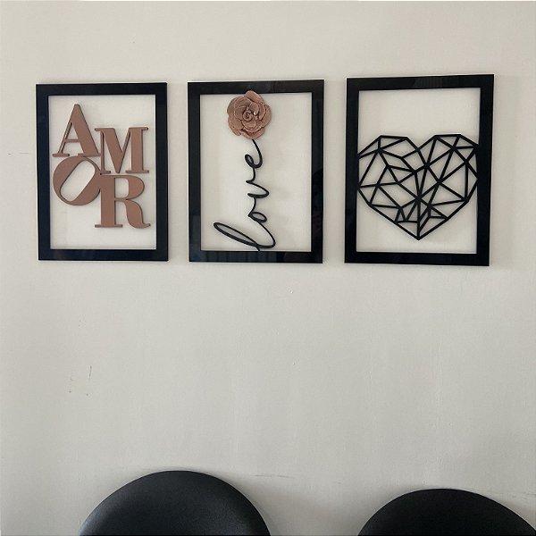 Trio quadros amor