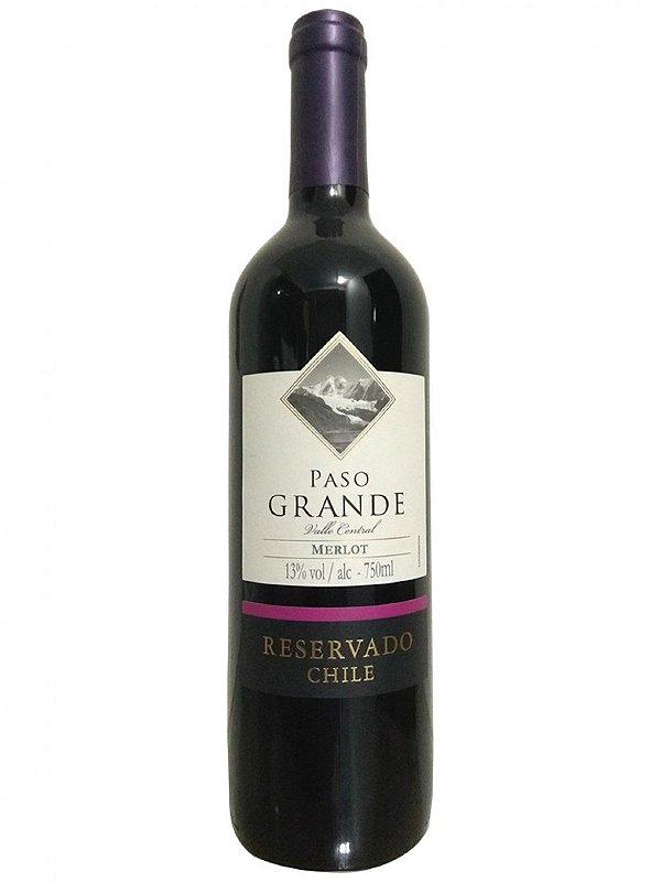 Vinho Merlot Paso Grande 750ml