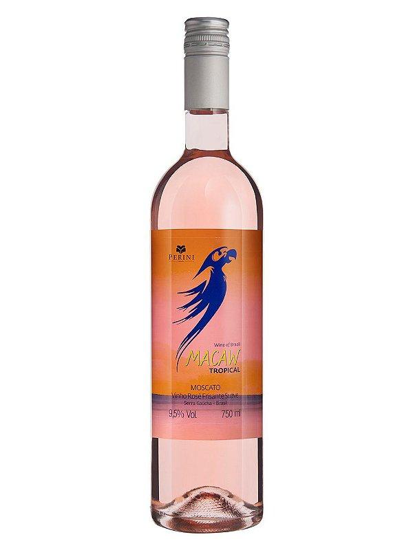 Vinho Rose Moscato Frisante Macaw Casa Perini 750ml