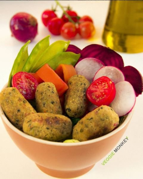 Croquete de Legumes Vegano 300g (10 unidades) - Veggie Monkey