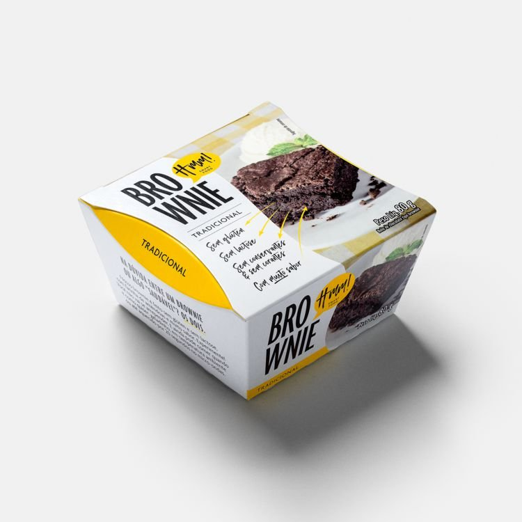 Brownie Tradicional 80g (individual) - Hmm Smart Food