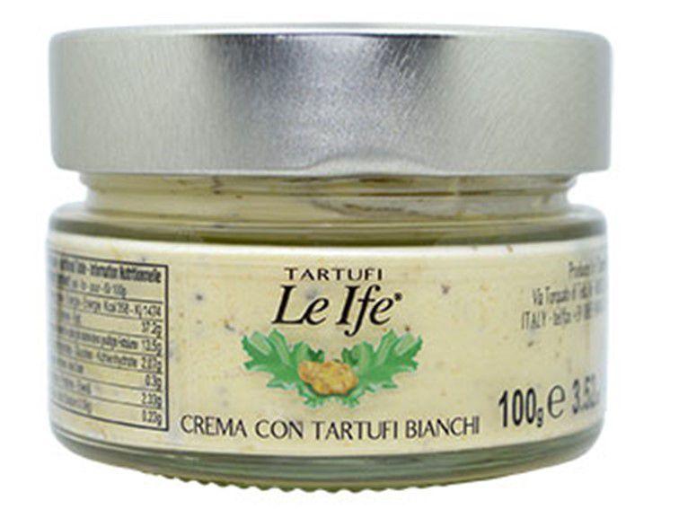 CREME COM TRUFA BRANCA (CREMA CON TARTUFO BIANCHI) 100 GRAMAS LE IFE