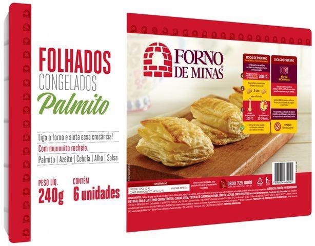 FOLHADO DE PALMITO 240 GRAMAS FORNO DE MINAS