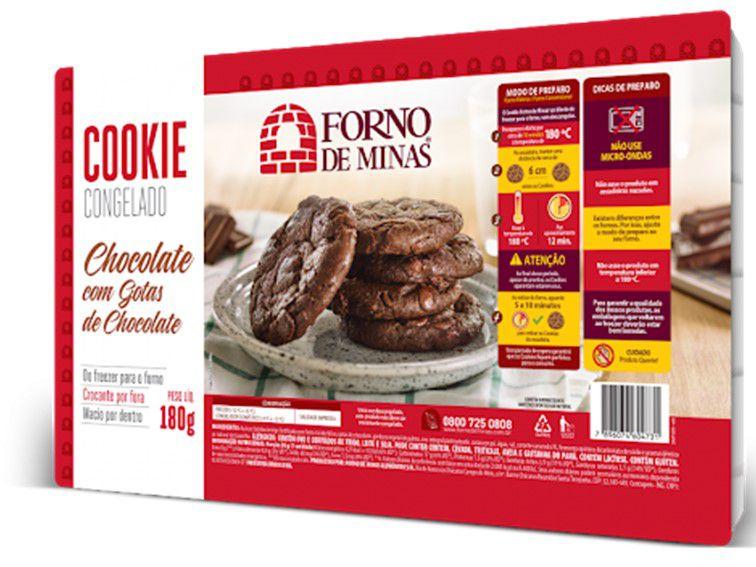 COOKIE CHOCOLATE 180 GRAMAS FORNO DE MINAS
