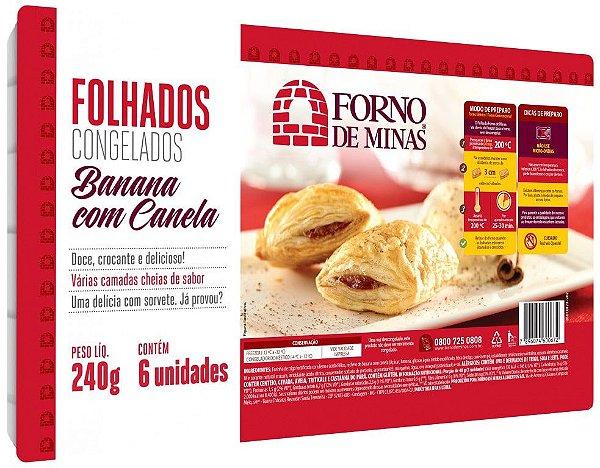 FOLHADO DE BANANA COM CANELA 240 GRAMAS FORNO DE MINAS