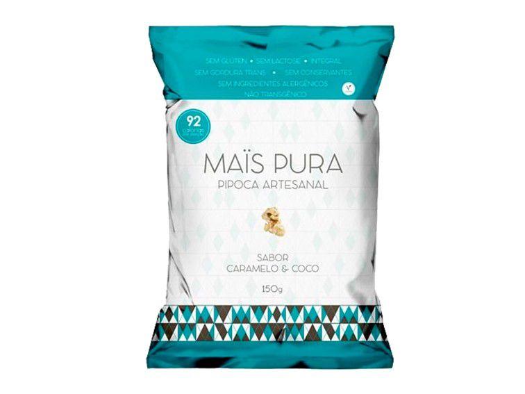 PIPOCA CARAMELO COM COCO 150 GRAMAS MAIS PURA